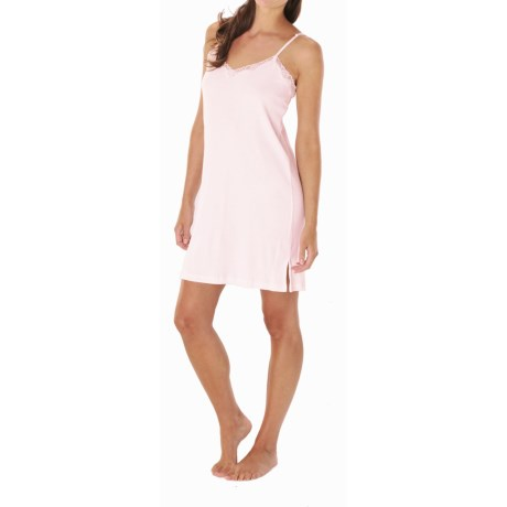 Paddi Murphy Softies Eileen Chemise - V-Neck, Spaghetti Straps (For Women) in Pink