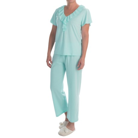Paddi Murphy Softies Ellie Capris Pajamas Short Sleeve (For Women)