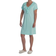 Paddi Murphy Softies Ellie Nightgown - Short Sleeve (For Women) in Aqua - Closeouts