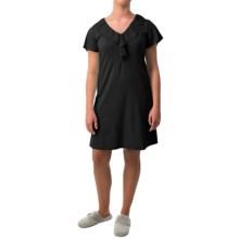 Paddi Murphy Softies Ellie Nightgown - Short Sleeve (For Women) in Black - Closeouts