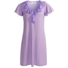 Paddi Murphy Softies Ellie Nightgown - Short Sleeve (For Women) in Orchid - Closeouts