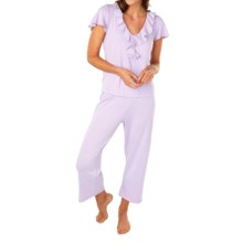 Paddi Murphy Softies Ellie Ruffle Pajamas - Short Sleeve (For Women) in Orchid - Closeouts