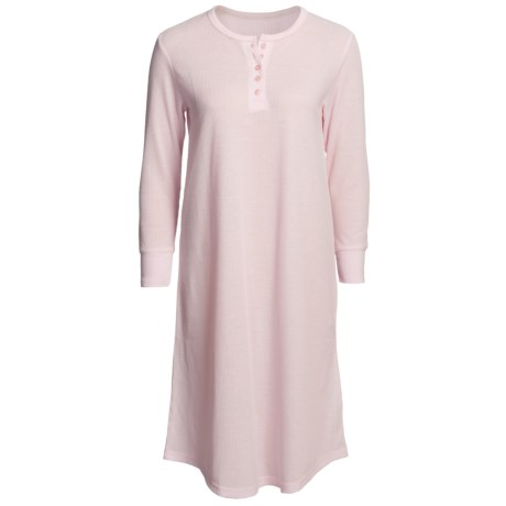 Paddi Murphy Softies Heidi Grandfather Thermal Nightshirt - Long Sleeve (For Women)