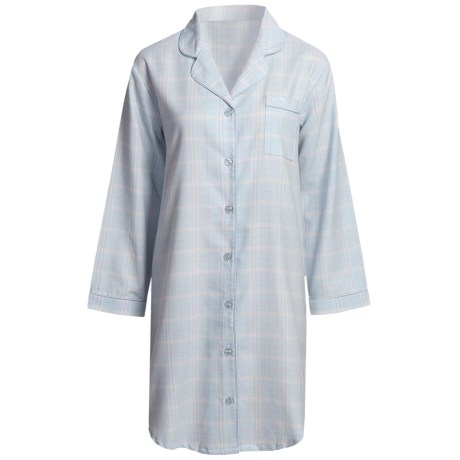 Paddi Murphy Softies Heidi Nightshirt - Long Sleeve (For Women) in Blue