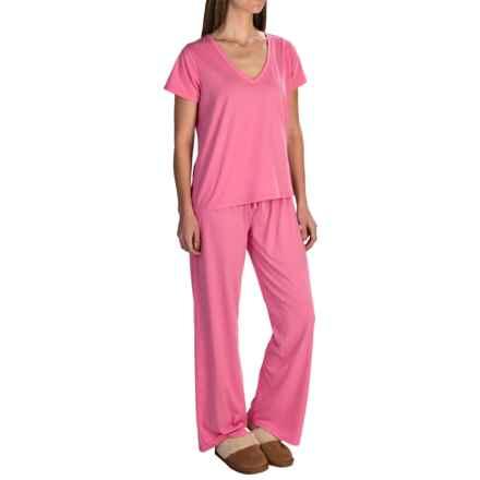 Paddi Murphy Softies Jennifer Pajamas - Short Sleeve (For Women) in Coral - Closeouts