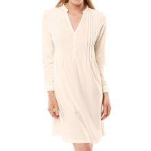 Paddi Murphy Softies Lauren Nightgown - Stretch Jersey, Long Sleeve (For Women) in Ivory - Closeouts