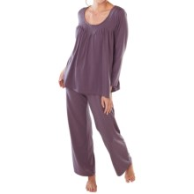 Paddi Murphy Softies Linda Pajamas - Long Sleeve (For Women) in Plum - Closeouts