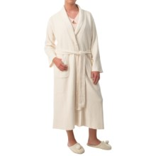 Paddi Murphy Softies Long Ribbed Chenille Robe - Long Sleeve (For Women) in Ivory - Closeouts