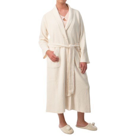 Paddi Murphy Softies Long Ribbed Chenille Robe Long Sleeve (For Women)