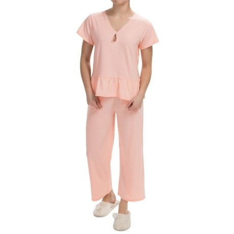 Paddi Murphy Softies Marissa Capri Pajamas Short Sleeve For Women