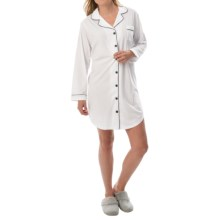 Paddi Murphy Softies Meghan Sleep Shirt - Long Sleeve (For Women) in White - Closeouts