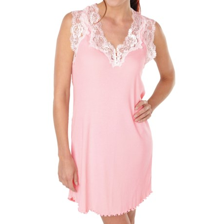 Paddi Murphy Softies Melanie Nightgown - Sleeveless (For Plus Size Women) in Pink