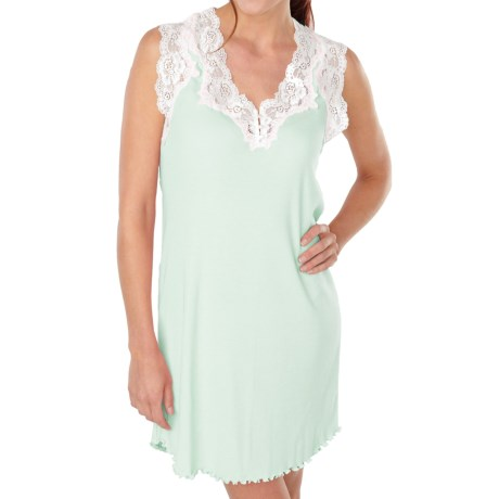 Paddi Murphy Softies Melanie Nightgown - Sleeveless (For Women) in Mint