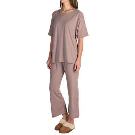 Paddi Murphy Softies Mia Pajamas - Dri-Release®, Short Sleeve (For Women) in Taupe - Closeouts