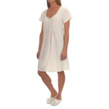 Paddi Murphy Softies Sadie Nightgown - Short Sleeve (For Women) in Ivory - Closeouts