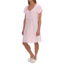 Paddi Murphy Softies Sadie Nightgown - Short Sleeve (For Women) in Pink - Closeouts