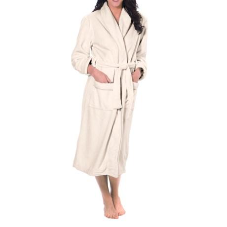 Paddi Murphy Velour Robe (For Women) in Ivory