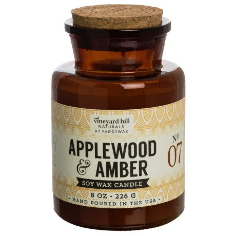 Paddywax Apothecary Applewood and Amber Soy Candle - 8 oz. in Amber
