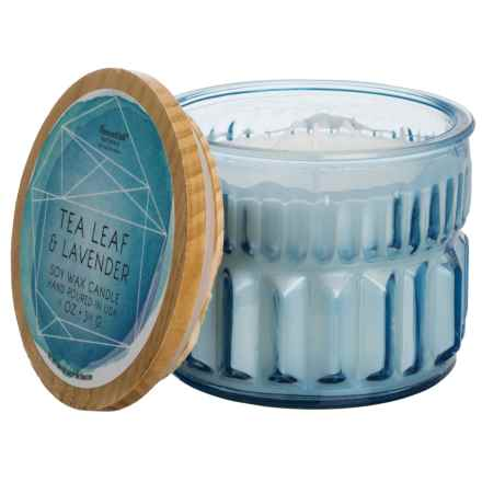 Paddywax Aquarelle Geode Tea Leaf and Lavender Soy Candle - 3-Wick, 11 oz. in Blue - Closeouts