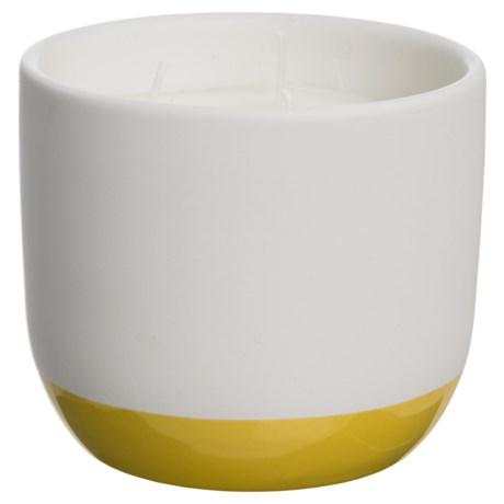Paddywax Indigo Illustrations Citrus Blossom Ceramic Candle - 3-Wick, Soy Wax, 11 oz.