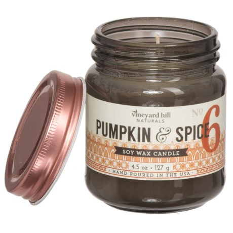 Paddywax Letterpress Pumpkin and Spice Mini Soy Candle - 4.5 oz. in Grey