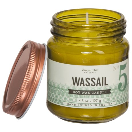 Paddywax Letterpress Wassail Mini Soy Candle - 4.5 oz. in Green