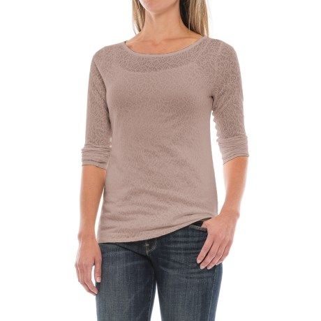 Paisley Jacquard Knit Shirt - Long Sleeve (For Women)