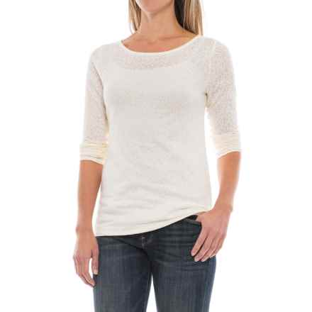 Paisley Jacquard Knit Shirt - Long Sleeve (For Women) in Ivory - 2nds