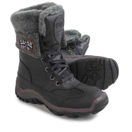 Pajar Alice Winter Boots - Waterproof, Leather (For Women) in Black/Dark Grey - Closeouts
