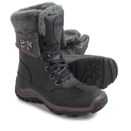 Pajar Alice Winter Boots - Waterproof, Leather (For Women) in Black/Dark Grey - Closeouts