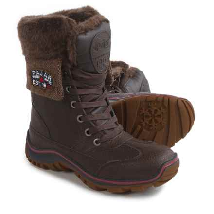 Pajar Alice Winter Boots - Waterproof, Leather (For Women) in Dark Brown - Closeouts