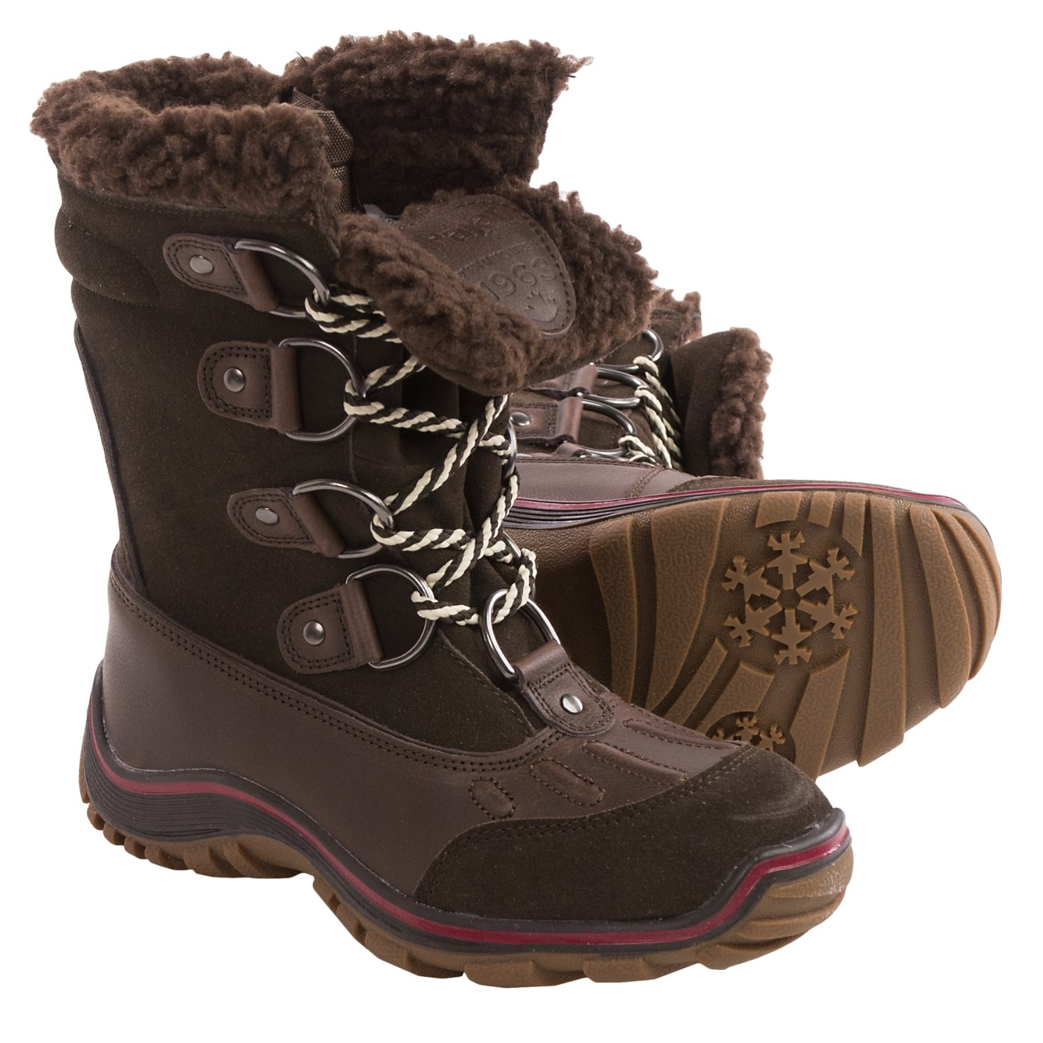 Pajar alina snow boots waterproof for women in coffee