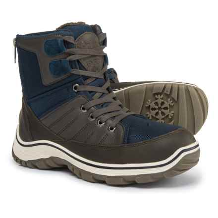Pajar Alvin Snow Boots - Waterproof, Insulated (For Men) in Navy/Brown - Closeouts