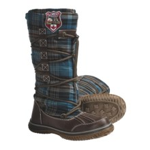 Pajar Andree Lace Wrap Boots (For Women) in Green/Brown Plaid - Closeouts