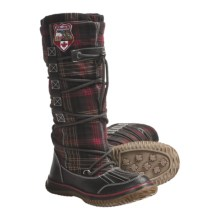 Pajar Andree Lace Wrap Boots (For Women) in Purple/Brown Plaid - Closeouts