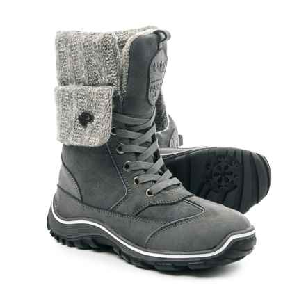 Pajar Ava Snow Boots - Waterproof, Insulated, Leather (For Women) in Grey