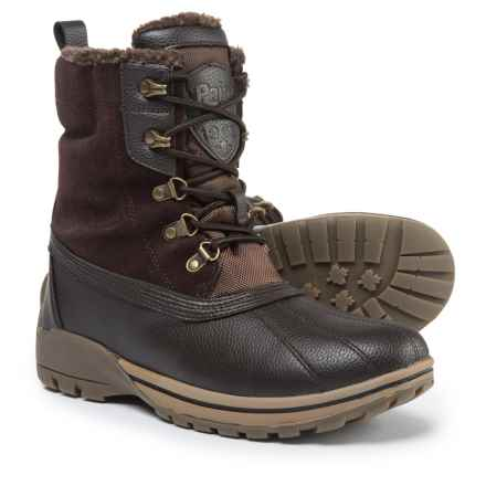 Pajar Barns Snow Boots - Waterproof, Leather (For Men) in Dark Brown - Closeouts