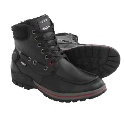 Pajar Bocce Leather Snow Boots - Waterproof, Insulated (For Men) in Black - Closeouts
