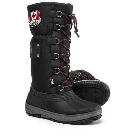 Pajar Camper Tall Pac Boots - Waterproof, Insulated (For Girls) in Black - Closeouts