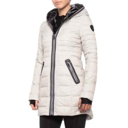 Pajar Canadian Designer Cece Jacket with Faux-Agora Lining - Down Insulated (For Women) in Silver - Closeouts