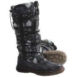 Pajar Crosby 3 Boots - Leather-Wool (For Women) in Black/Charcoal