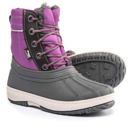Pajar Elie Snow Boots - Waterproof (For Girls) in Pink - Closeouts