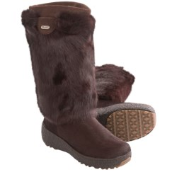 Pajar Foxy Winter Boots - Shearling Lining (For Women) in Brown