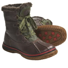 Pajar Ice Boots - Waterproof (For Women) in Dark Brown/Military Green - Closeouts
