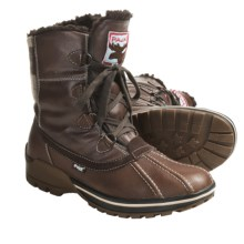 Pajar Luke Leather Boots - Waterproof, Wool-Lined (For Men) in Dark Brown - Closeouts