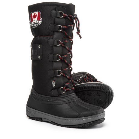 Pajar Tall Camper Side-Zip Pac Boots - Waterproof, Insulated (For Girls) in Black