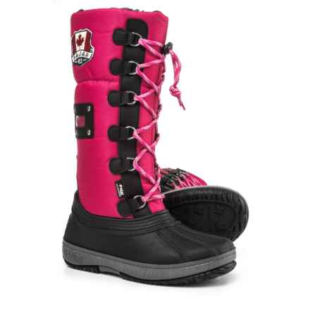 Pajar Tall Camper Side-Zip Pac Boots - Waterproof, Insulated (For Girls) in Dark Pink - Closeouts