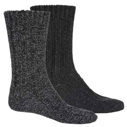 Pajar Thick Wool-Blend Socks - 2-Pack, Crew (For Men) in Black/Heather Grey - Overstock