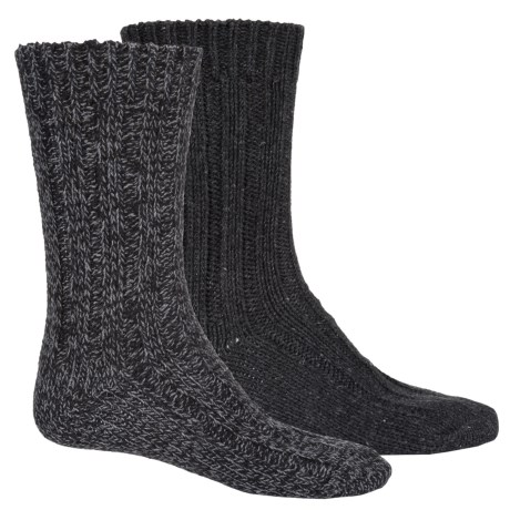 Pajar Thick Wool-Blend Socks - 2-Pack, Crew (For Men) in Black/Heather Grey
