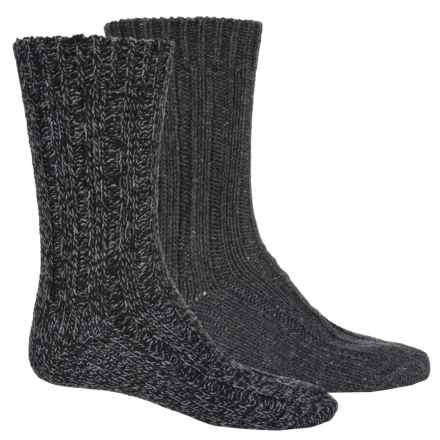Pajar Thick Wool-Blend Socks - 2-Pack, Crew (For Men) in Grey/Heather Grey - Overstock